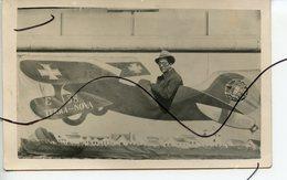 CARTE PHOTO. CPA. TERRA-NOVA. E. 38.  Un Homme Dans Avion . Montage Photo - Autres