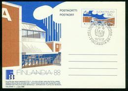 GA Finnland Ganzsache 1988   Postkarte MiNr P 161   Used SST Finlandia 88 WWF   Messezentrum Helsinki - Finlandia