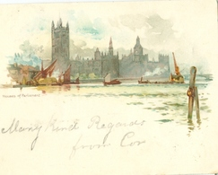 London 1899; House Pf Parliament - Circulated. Please Read Description! - Houses Of Parliament