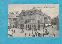 Arlon. - Grande Place Et Rue Du Marché Au Beurre. - Arlon