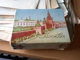 Old Cardboard Box Moskva Tobacco  Cigarettes - Boites à Tabac Vides