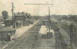 MONTEROLIER BUCHY - La Gare (carte Vendue En L'état). - Gares - Avec Trains