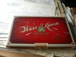 Old Cardboard Box Duelt Krone Elbaco Cello Ready  For Use 30 10 Zigarren - Schnupftabakdosen (leer)