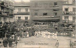 DEVA LA PLAZA EN EL DIA SAN ROQUE - Spain