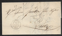1853 - Cursive 11 LA CALM (AVEYRON) 22mm X 10mm - Poststempel (Briefe)