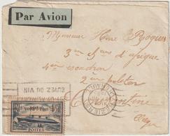 ESC/avion  1,50 Normandie OMEC Béziers Hérault -> Algérie 1935 - Postmark Collection (Covers)