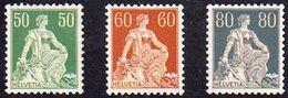 Schweiz Suisse 1940: Helvetia Zu 113y+140y+141y Mi 107y+140y+141y (glattes Kreide-Papier Lisse Crayeux) (Zu CHF 140.00) - Abarten