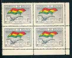 "Bloc De 4 Timbres** De 1951 De BOLIVIE ""Centenaire Du Drapeau National"" - Bolivia"