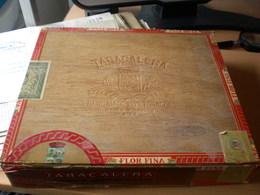 Old Wooden Box Tabacalera 25 Coronas Larges Especiales  Flor Fina  Big Box - Contenitori Di Tabacco (vuoti)
