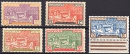 GUADELOUPE  N** 99 100 101 102 103 MNH - Guadeloupe (1884-1947)