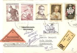 Autriche 1971 - Lettre Recommandée - Remboursement - Tarifierungs  - De Wien à Riols/France - Affranchissement 48 Sh - 1945-.... 2ème République