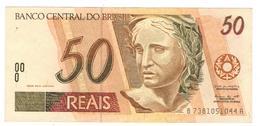 Brazil 50 Reais, XF. Great Note. - Brazil