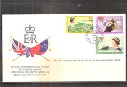 Commemorative Cover From Samoa - Silver Jubilee Of QEII -(to See) - Samoa