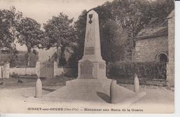 COTE D'OR -  GISSEY Sur OUCHE - Monument Aux Morts De La Guerre - Autres Communes