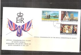 Commemorative Cover From South Georgia - Silver Jubilee Of QEII - Complete Set (to See) - Géorgie Du Sud