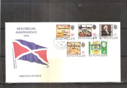 FDC From Seychelles - Stamps With Overprint 'Independence 1976' (to See) - Seychelles (1976-...)