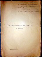 CHEVALIERS DE SAINT JEAN DE JERUSALEM HOSPITALIERS  RHODES MALTE  FAROCHON 1892 - Livres, BD, Revues