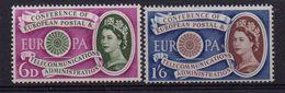 GRANDE-BRETAGNE (  POSTE  ) : Y&T N°  357/358  TIMBRES  NEUFS  SANS  TRACE  DE  CHARNIERE . - 1952-.... (Elizabeth II)