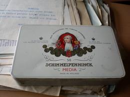 Old Tin Box Schimmelpenninck Media Made In Holland - Boites à Tabac Vides