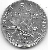*france 50 Centimes  1898  Km  854   Vf+ - France