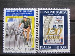 *ITALIA* USATI 2009 - BARTALI UNIONE SARDA - SASS 3127 3121 - LEGGI - 6. 1946-.. Repubblica