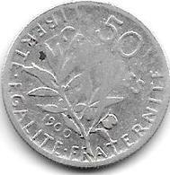 *france 50 Centimes  1900  Km  854   Fr+ - France