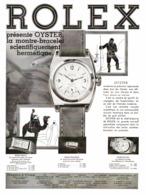 """PUB MONTRE   """"  ROLEX OYSTER   """"    1931  ( 1 ) - Bijoux & Horlogerie"""