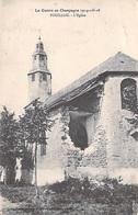 51] Marne > POUILLON L'Eglise  -La Guerre En Champagne 1914-15-16 -Militaria (canton Bourgogne)*PRIX FIXE - Autres Communes