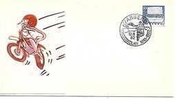 COR097- ANNULLO SVEZIA - MOTO MOTOCICLISMO - KRIGSSKOLAN 1910-1982 - - VARBERG - Moto