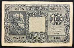 10 LIRE GIOVE 1944 LUOGOTENENZA Spl LOTTO 465 - [ 1] …-1946 : Regno