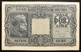 10 LIRE GIOVE 1944 LUOGOTENENZA Spl LOTTO 465 - [ 1] …-1946 : Koninkrijk