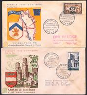 {F013} France 1954 2 FDC See Scan !! - FDC
