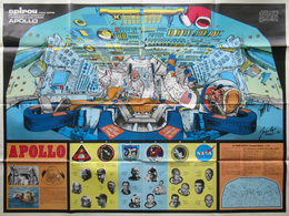 Mission APOLLO - Poster Du Journal SPIROU - 1970 - Par J-L BEGHIN   (4467) - Affiches & Offsets
