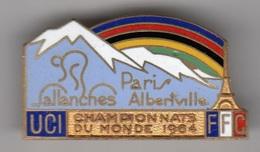 CYCLISME CHAMPIONNATS DU MONDE 1964 UCI SALLANCHES /ALBERTVILLE  INSIGNE DE POITRINE - Cyclisme