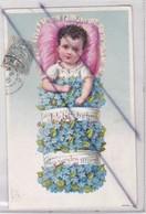 Carte Gauffrée ; Petit Bébé Deviendra Grand (carte Précurseur De 1903) - Babies