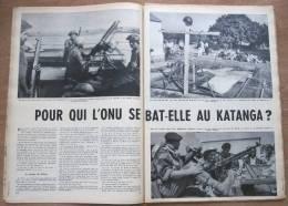 """Magazine Avec Article """"Congo, Pour Qui L'ONU Se Bat-elle Au Katanga?"""" 1961 - Vieux Papiers"""