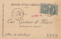 Rapone. 1899. Annullo Grande Cerchio RAPONE, Su Cartolina Postale Commerciale - 1878-00 Humbert I