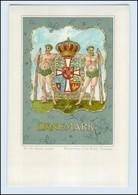 N2498/ Dänemark Danmark Wappen Litho AK  Verlag: Kohl  Ca.1900 - Denmark