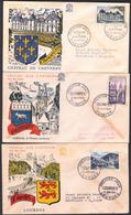 {F021} France 1954 Tourism 3 FDC See Scan !! - FDC