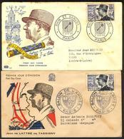 {F023} France 1954 J. De Lattre De Tassigny 2 FDC See Scan !! - 1950-1959