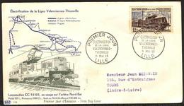 {F025} France 1955 Trains FDC See Scan !! - FDC