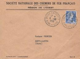 Dreux Entrepot Sur Lettre SNCF - Marcophilie (Lettres)