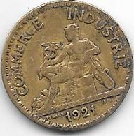 *france 50 Centimes  1921  Km  884   Vf+ - France