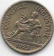 France 50 Centimes  1922  Km  884   Xf+ - France