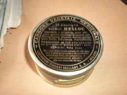 Old Tin Box  Carbone Vegetale Medicinale  35 Pastiqlie Belloc  Milano - Matériel Médical & Dentaire