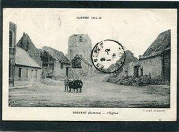CPA - Guerre 1914-18 - PROYART - Quartier De L'Eglise, Animé - Guerre 1914-18