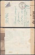 """BELGIQUE COB 27 DEMI TIMBRE SUR IMPRIME MAN """" POSTES FERMEES PLUS DE TIMBRE """" 07/09/1914 (DD) DC-2329 - Marcophilie"""