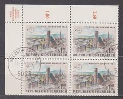 1964 , 4 Er Block Mi 1164 (5) Gestempelt Mit Gummi - Int. Briefmarkenausstellung WIPA 1965 , ST 5023 Salzburg - Gnigl - 1961-70 Afgestempeld