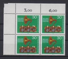 Bund 786 4er Block Eckrand Links Oben 50 Jahre Dt. Rundfunk 30 Pf Postfrisch - BRD