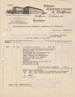 Suisse Facture Illustrée 29/12/1928 Fabrique De Machines à Tricoter SCHAFFHOUSE - Suisse